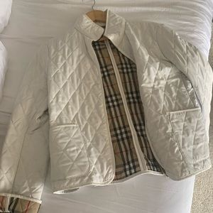 Burberry Cream Jacket size Medium